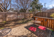 Cozy patio area with a newer fenced yard. _401 W.6th Ave.